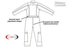 Coveralls Size Chart Nomex Flight Suit Metasco