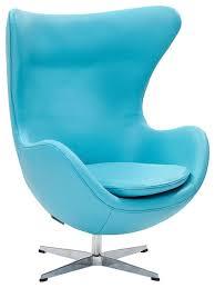 egg chair light blue