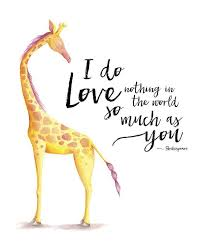 Giraffe Quotes Delectable Giraffe Nursery Wall Art Shakespeare Quote 48x48 48x48 48x48