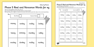 Adding and subtracting integers worksheets in many ranges. Phase 5 Ey Color By Phoneme Real And Nonsense Words Phase 5