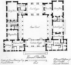 2719 best floor plan fanatic images on pinterest apartment floor Architecture House Plans Book ground floor plan arranged in a processional sequence around the central spanish style courtyard House Blueprint Architecture
