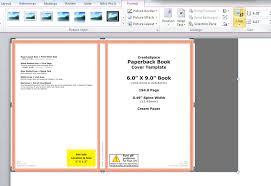 how to make a full print book cover in microsoft word for book cover format