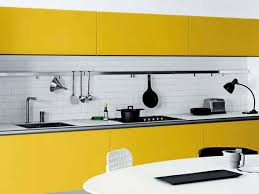 kitchen design yellow. white and black kitchen design with yellow cabinets in contemporary style e