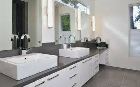 White Bathroom Cabinets With Dark Countertops