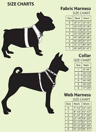 Size Charts For Front Leading Dog Harnesses
