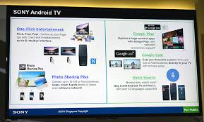 sony tv android. the new entertainment capabilities of tvs featured prominently in sony\u0027s presentation. viewers can sony tv android