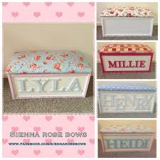 personalised toy box by siennarosebows on