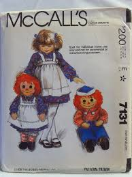 17 best Raggedy Ann & Andy Doll Patterns images on Pinterest ... & McCall's 7131 36