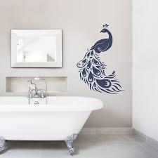 Wall Sticker Bathroom Peacock Wall Decal