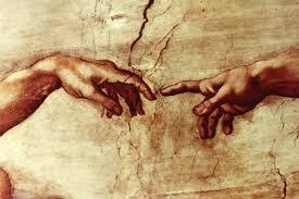 michelangelo hand paintings