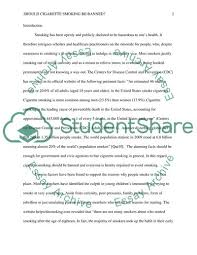essay on cigarette smoking should cigarette smoking be banned essay example topics and well