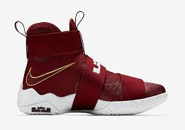 lebron red shoes. team red lands on the nike lebron zoom soldier 10 lebron shoes