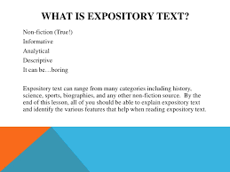 What Is Expository Text Expository Text Features