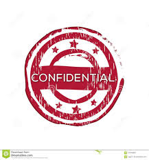 Confidential Vector Rubber Stamp Stock Vector Illustration Of
