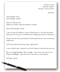 Elements Of A Cover Letters
