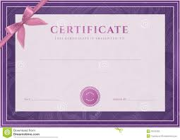 Certificate, Diploma Template. Award Pattern Illustration 33122300 ...