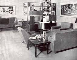 Living Room  Pleasing Townhouse Interior Design Idea For Living - 1950s house interior