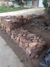 diy gabion baskets backyard