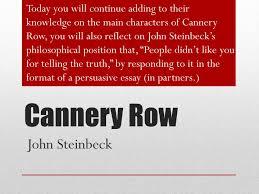 critical essay cannery row