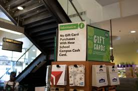 students binged on gift cards for retailers like uber and nike and visa gift cards at whole foods last week after dining dollars the s meal plan