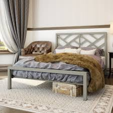 Metallic Bedroom Furniture Awesome Modern Metal Bed Headboards Open Frame Headboard Style