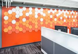office wall tiles. Geometry Tile Office Wall | Project: DPR, San Diego, CA Style: Hex Colors: 500/151/295 Tiles L