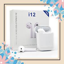 Tai Nghe Bluetooth i12 5.0 Cảm Ứng Cực Nhạy Tăng Chỉnh Âm Lượng 1 Đổi 1  Trong 30 Ngày - Tai Nghe Bluetooth Nhét Tai