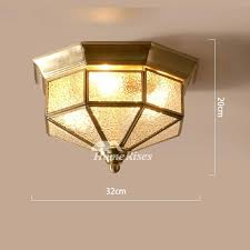 brass ceiling light flush mount glass rustic bedroom 3 outdoor antique lights homebase