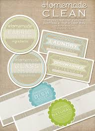 Recipe Labels Diy Homemade Clean Free Label Printables And Recipes Free