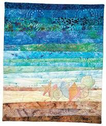 Beach Quilt Patterns & BEACH THEMED BABY QUILT PATTERNS   Sewing ... & Quilt Patterns   June Embroiders Seashells By The Seashore . Adamdwight.com