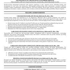Car Salesman Resume Examples Sales Example Cv Cover Letter With