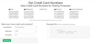 100% valid credit card numbers. Top 5 Credit Card Generators For Accessing Free Trials Of Online Games Fixable Stuff