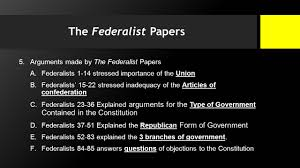 the federalist papers and the fundamental question how do  the federalist papers 5 arguments made by the federalist papers a federalists 1