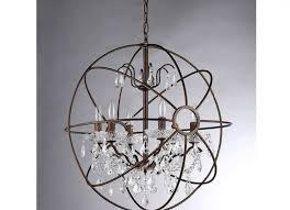 chandelier awesome iron orb chandelier restoration hardware
