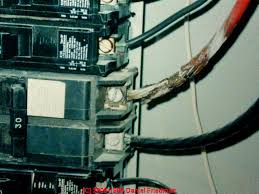 how to recognize aluminum electrical wiring in buildings photograph of overheated multistrand aluminum wire on a 240v circuit