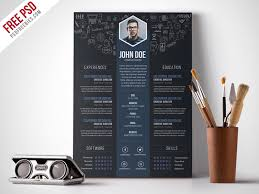 Unique Resume Templates Free Adorable Free Creative Designer Resume Template PSD PSDFreebies