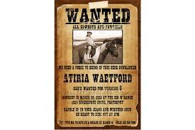 Cowboy Wanted Poster
