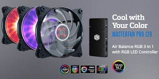 <b>Cooler Master MasterFan Pro</b> RGB Fans and Controller Review ...