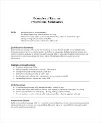 Resume Summary Examples Amazing Resume Summary Examples Athousandwords Throughout Example Of Resume