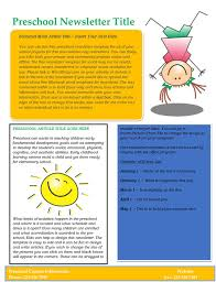 free newsletter templates for word 16 preschool newsletter templates easily editable and printable