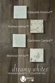 See our dreams of white quartz countertop choices for various patterns of  white natural quartz.