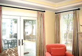 sliding door curtain ideas ds patio curtains slider intended for remodel window treatment covering curtai window treatment ideas