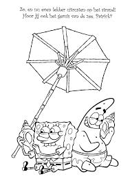Kleurplaten Paradijs Kleurplaat Spongebob Squarepants En Patrick