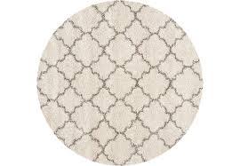 amalia ivory 8 round rug rugs beige with regard to design 5