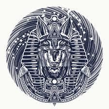 Plakát Anubis A Vesmírné Tetování A Tričko Design Starověký Egypt Anubis