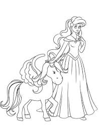 The princess & unicorn coloring pages come in 8.5″x11″ jpg format. 25 Free Printable Princess Coloring Pages The Artisan Life