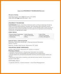 5 Entry Level Pharmacy Technician Resume Sample Business