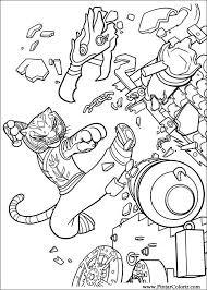 Tekeningen Te Schilderen Kleur Kung Fu Panda 2 Print Design 021