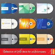 Cd Or Dvd Design Template For Company Presentation And Vector