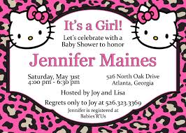 Printable Hello Kitty Invitations Personalized Hot Pink Hello Kitty Leopard Print Baby And 50 Similar Items
